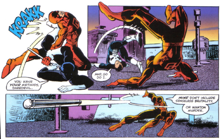 The First Showdown Between Punisher And Daredevil
